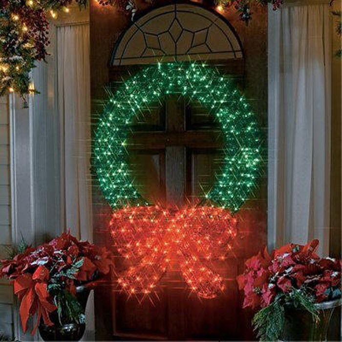 Lighted Crystal  Outdoor Christmas Entrance Decor