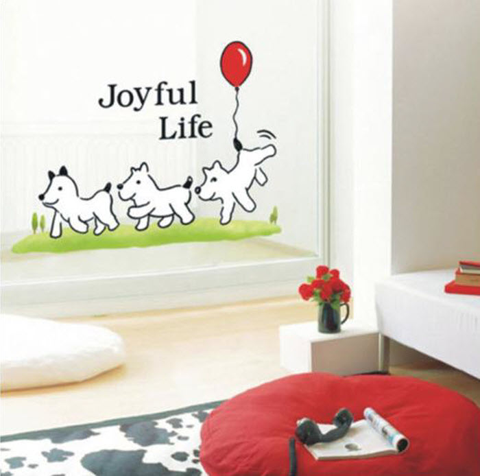 Message on wall stickers