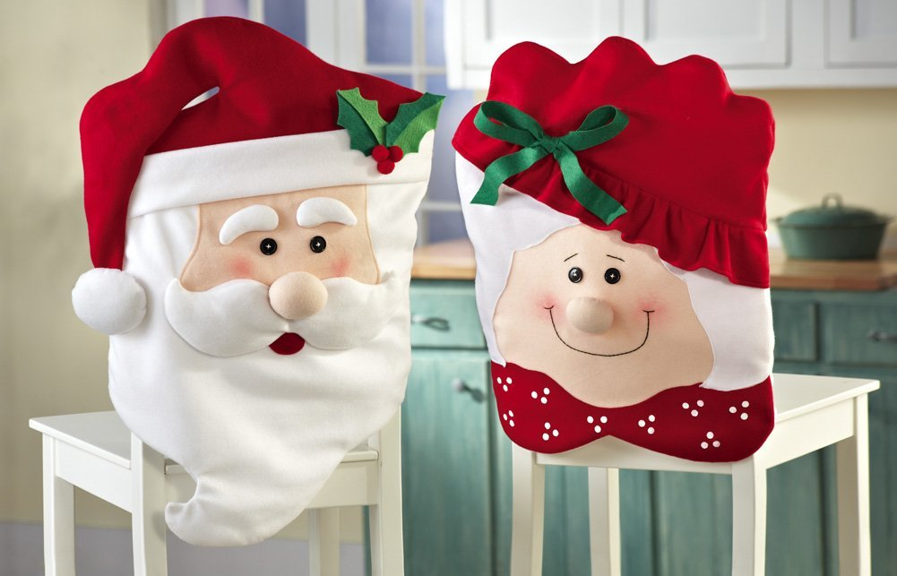 Mr & Mrs Santa Claus Christmas Kitchen Decoration