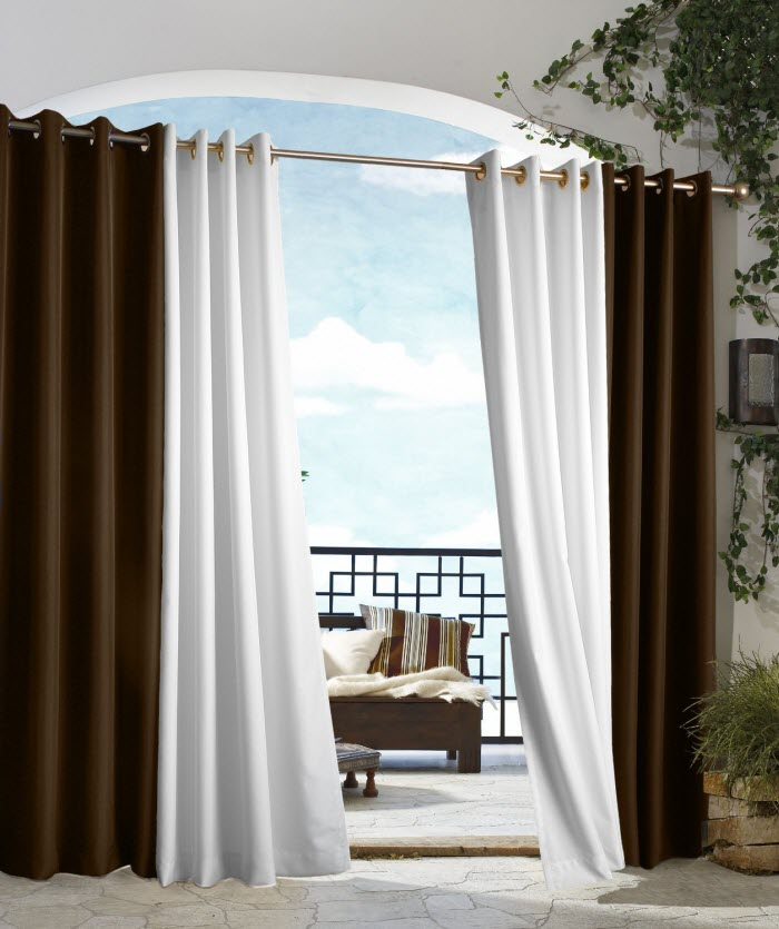 Outdoor Décor Gazebo Outdoor Solid Drape