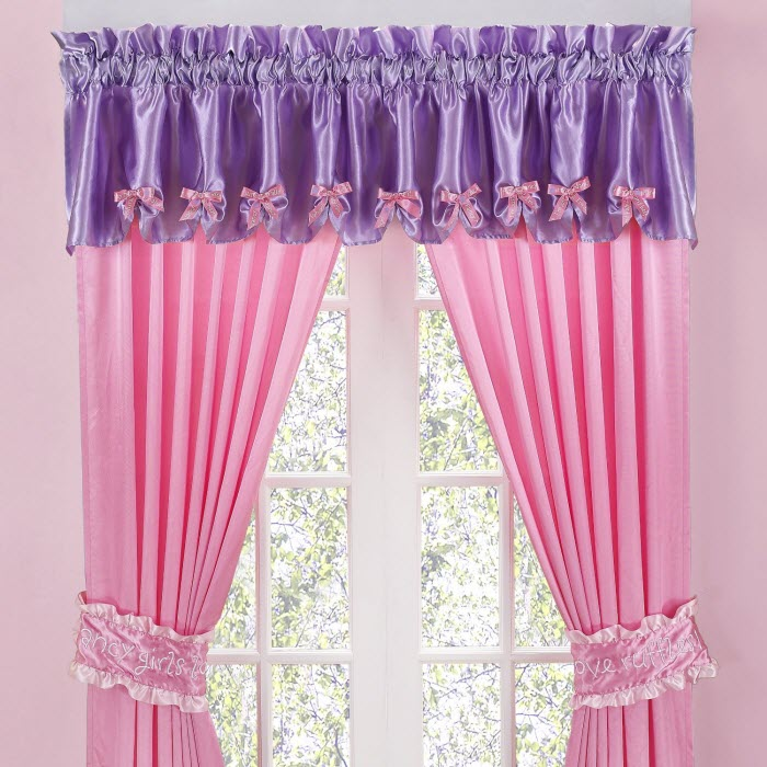 Pink and purple curtain