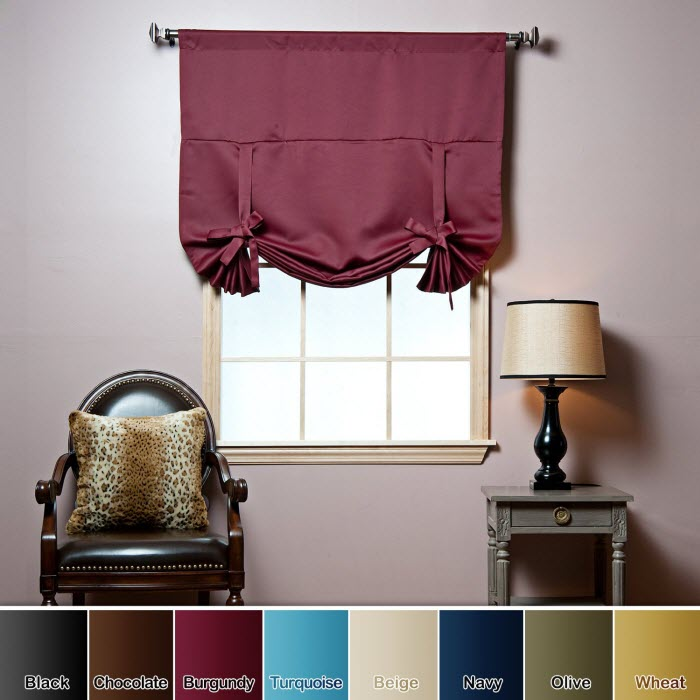 REd Foldable curtain Design