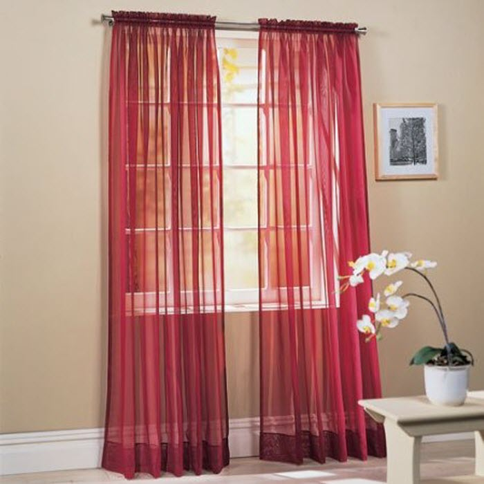 Red Color Curtain Design