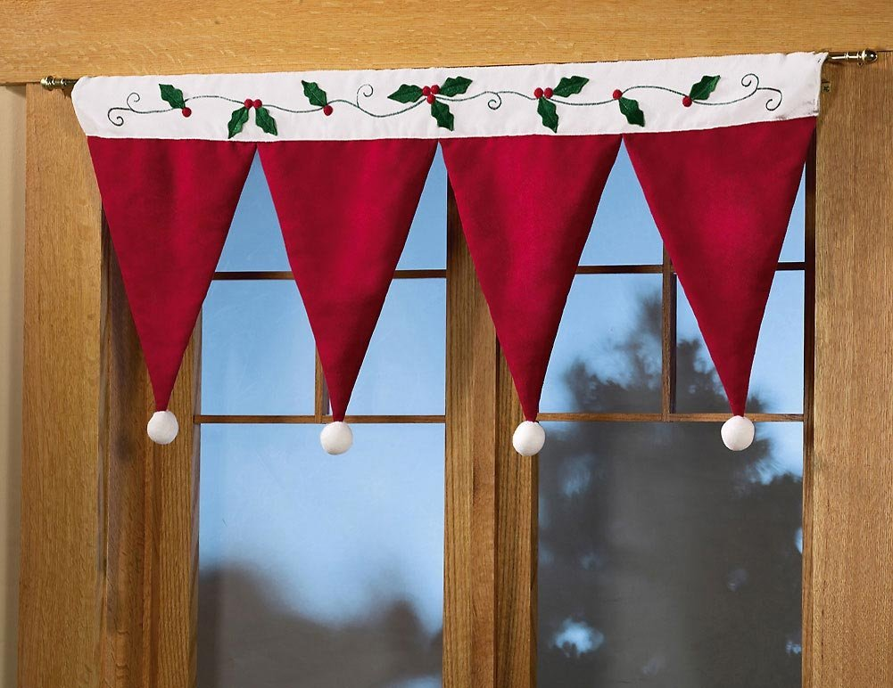 Santa Hat Curtain Idea
