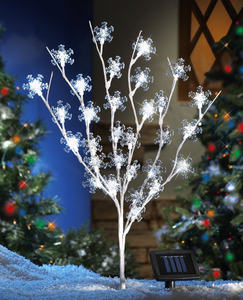 Solar Snowflake Tree Outdoor Christms Decoration