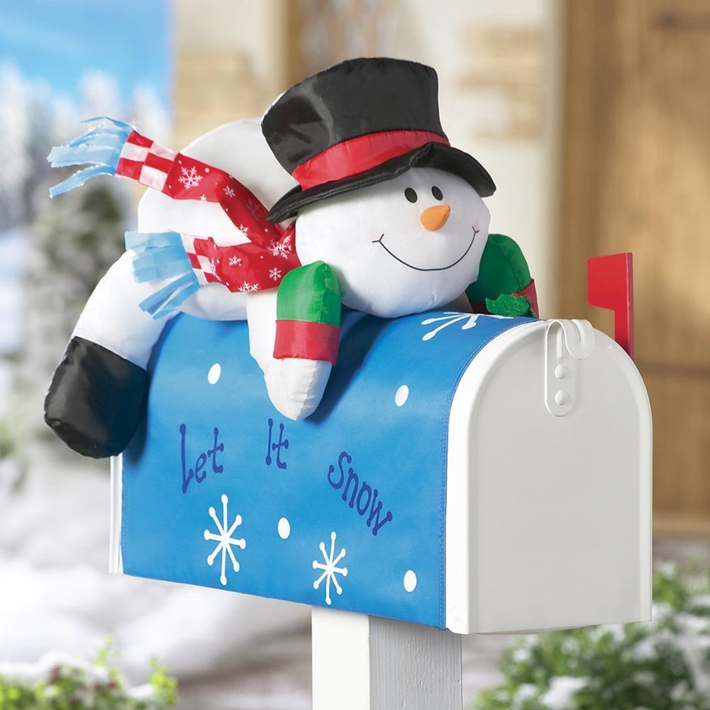 Stuffable Snowman Holiday Mailbox Cover For xmas Outdoor Decoration