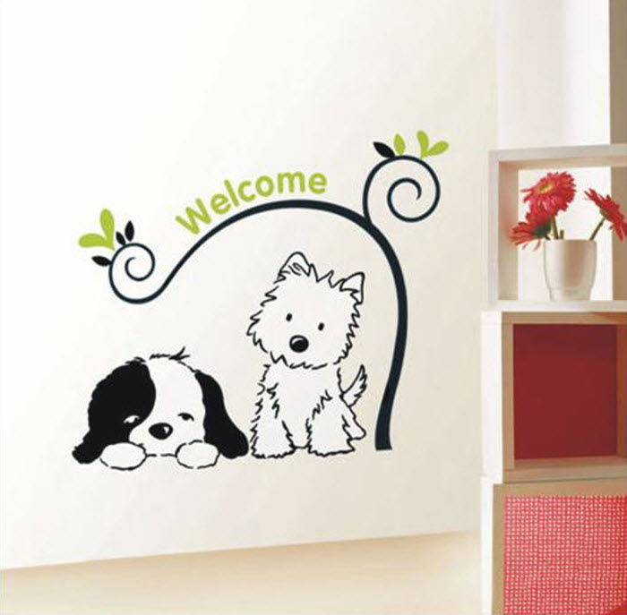 Attractive wall stickers home designing for Wall decals kids room