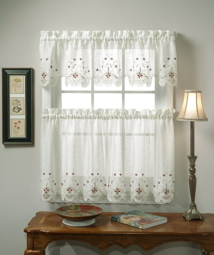 White Kitchen curtain design