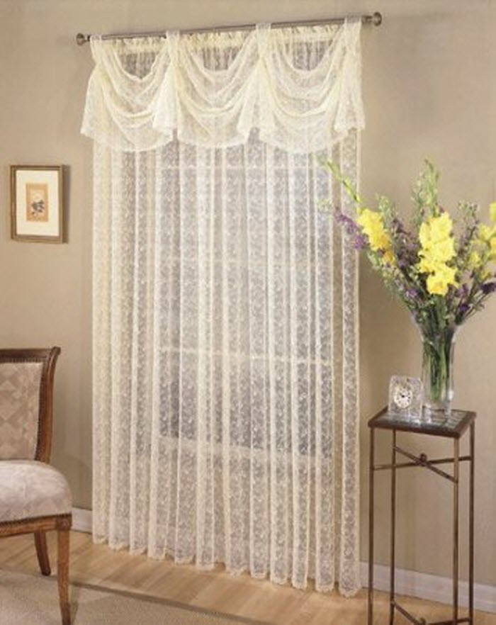 White Net pattern Curtain Design