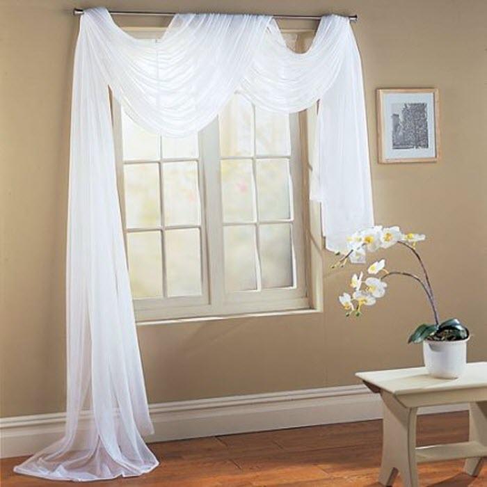 White designer curtain