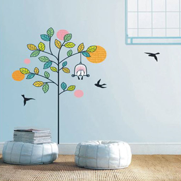 colorful Tree Wall Decoration