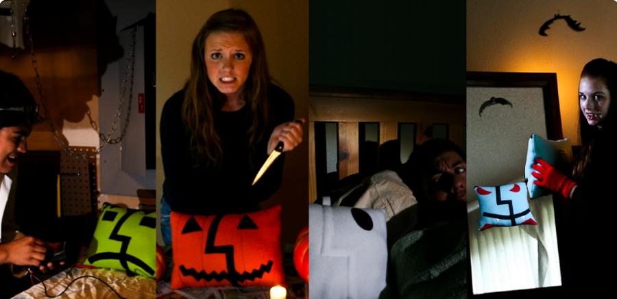 halloween themed pillows