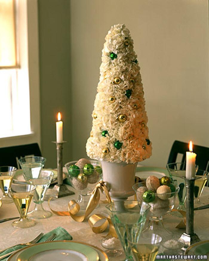 All white Christmas Tree Miniature