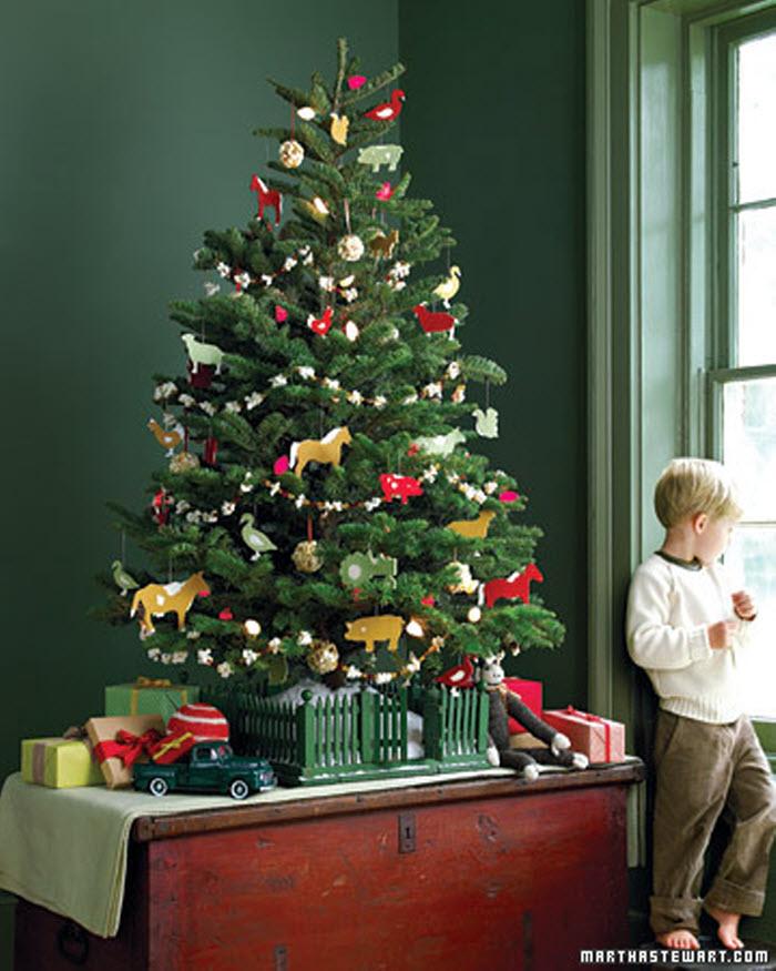 Animal Ornament Templates On Christmas Tree