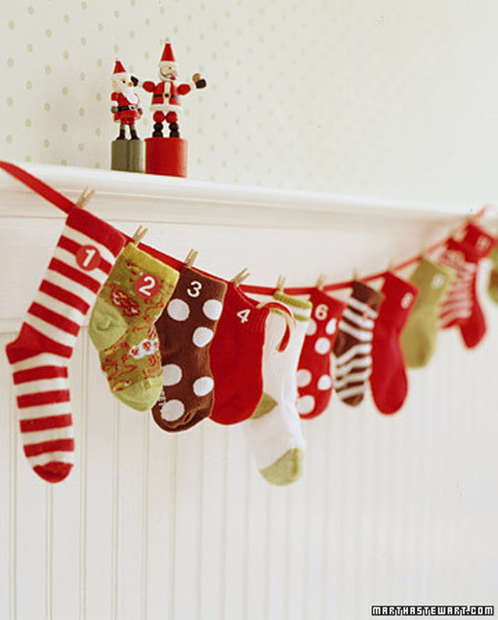 Baby Sock Advent Calendar