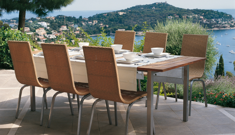 Brown Outdoor Chairs & Table
