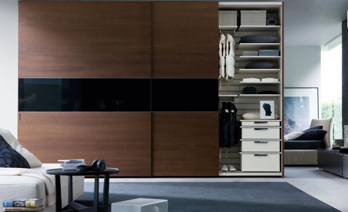 Brown and Black Wardrobe Design