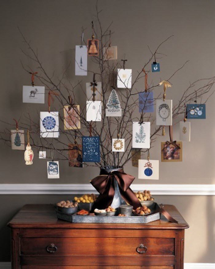 Christmas Card Display Tree