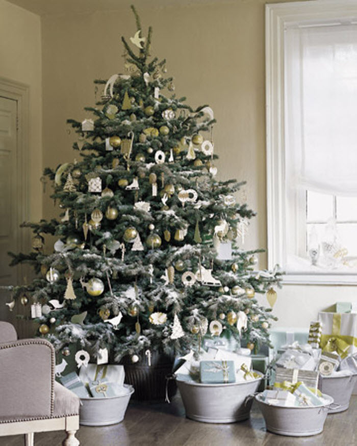 Christmas Tree Decoration with ornaments