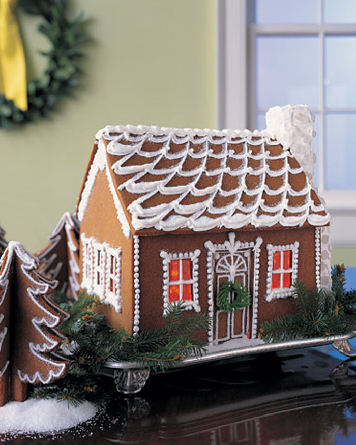 Colonial Gingerbread House Templates