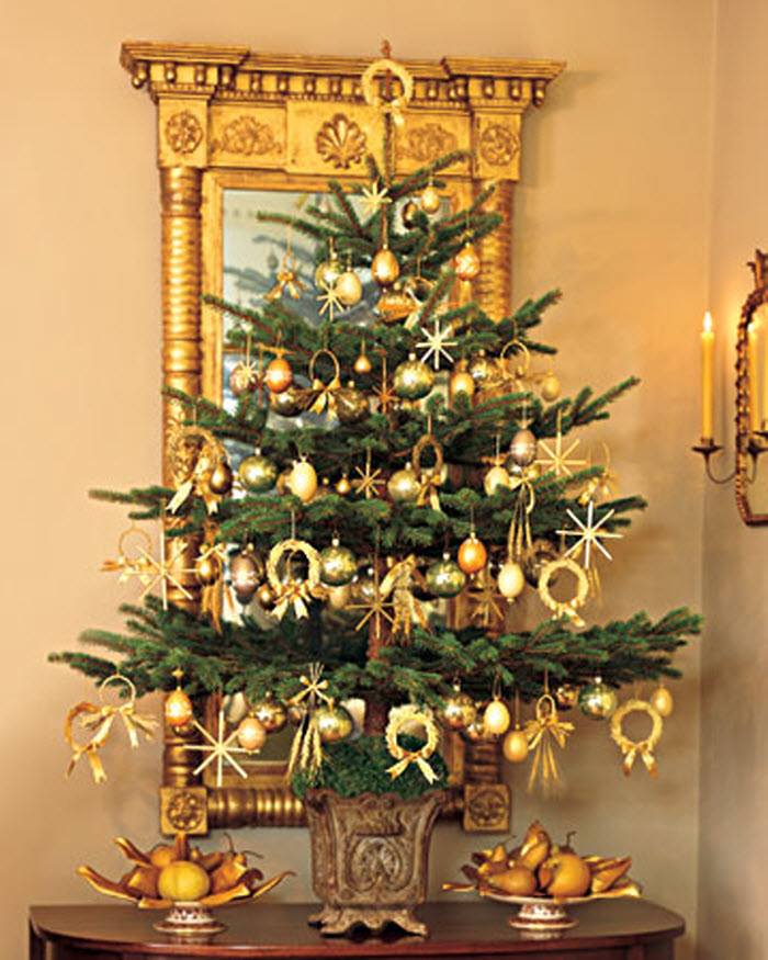 Green and Golden Christmas tree Decoration