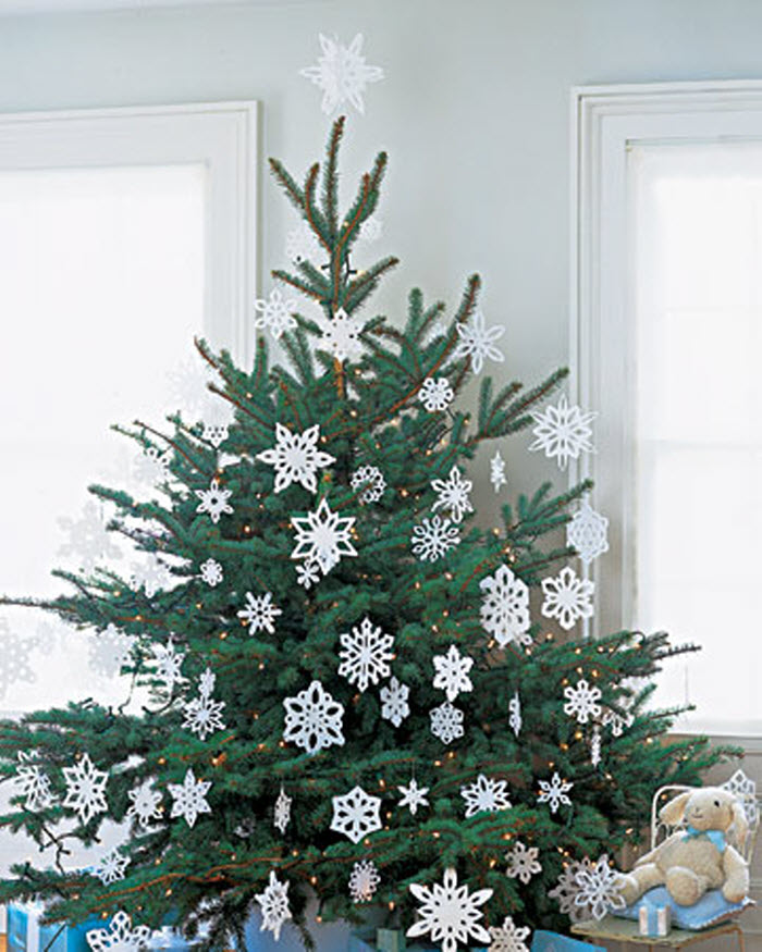 Decorative christmas tree ideas home designing for Home made christmas tree decorations