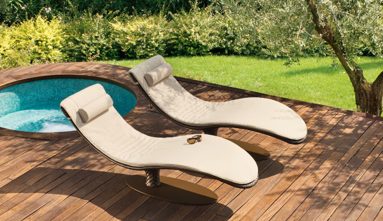 Light Brown Swimming Pool Chairs