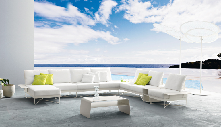 Beautiful outdoor living furniture home designing for White outdoor furniture
