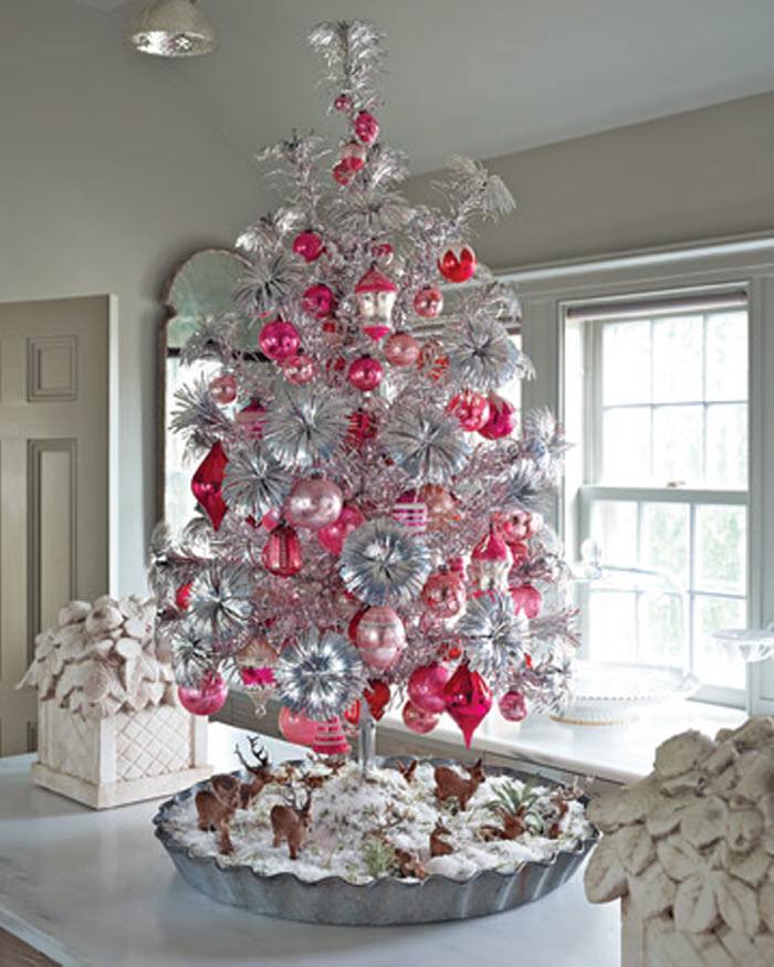 Silver and Red Christmas Tree