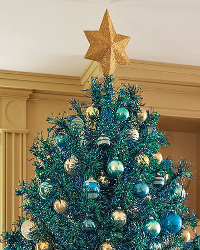 Star Tree Topper Template Decor