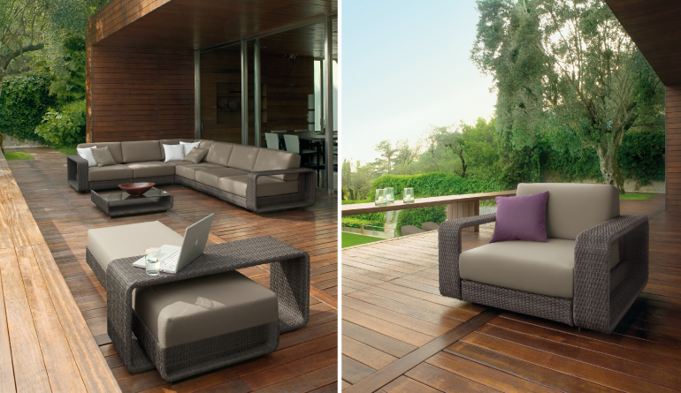 Web Themed Brown Outdoor Living Chairs Idea
