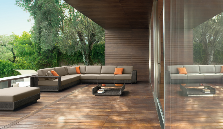 Web Themed Brown Outdoor Living Furniture