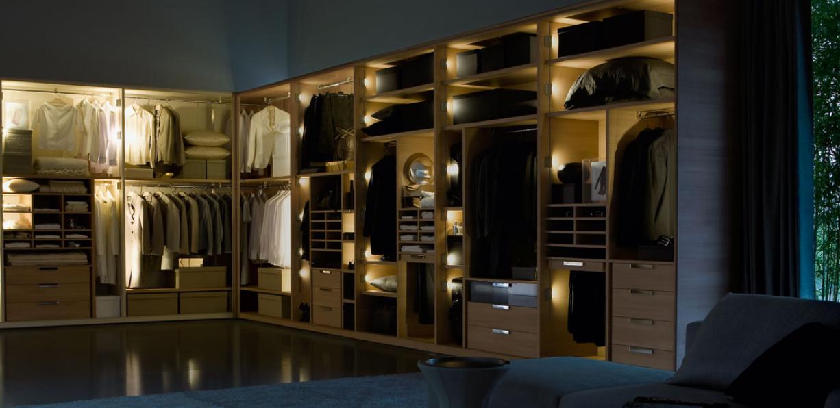 Wide Open Wooden Wardrobe