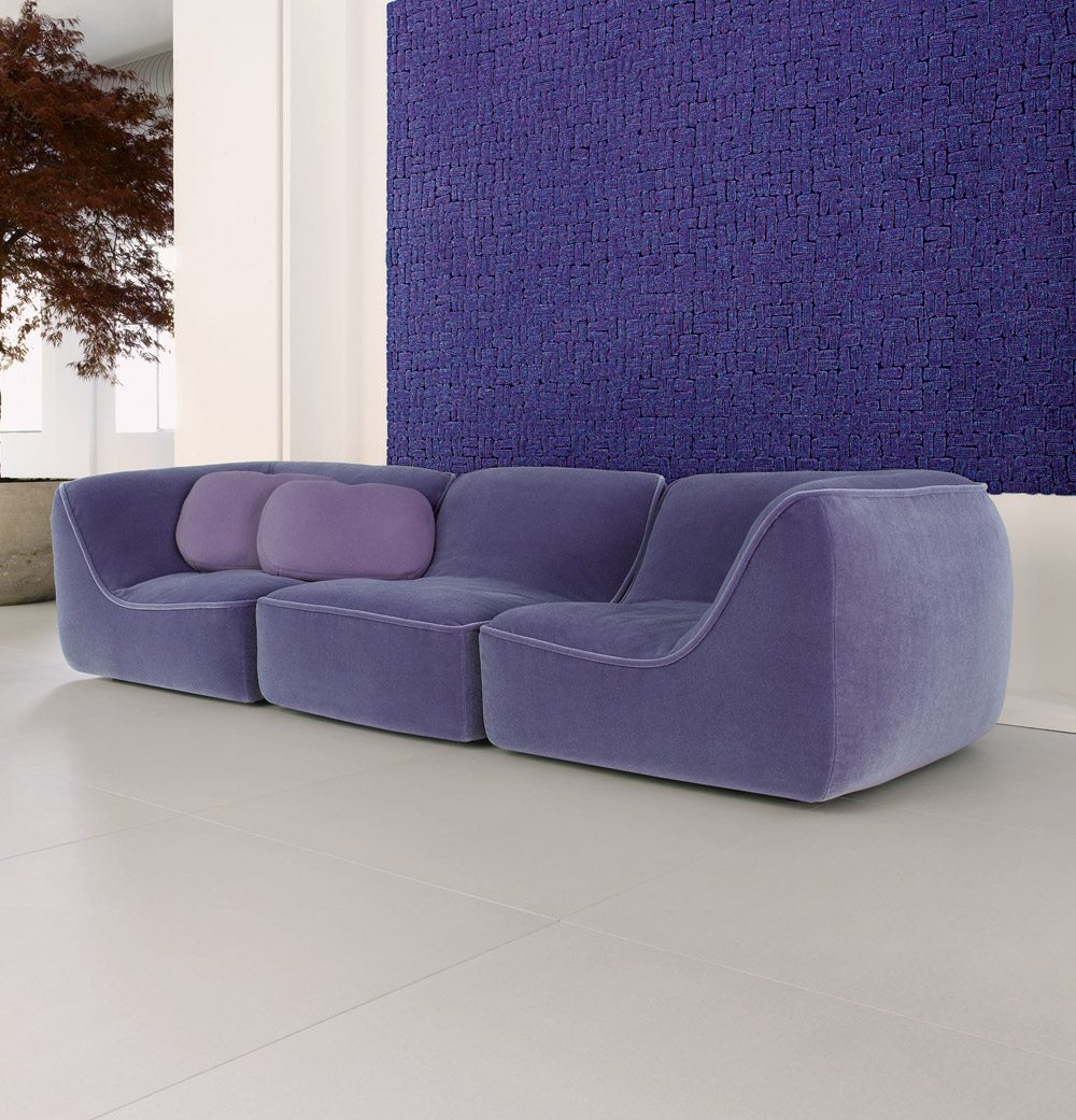 Comfortable Purple color Sofa