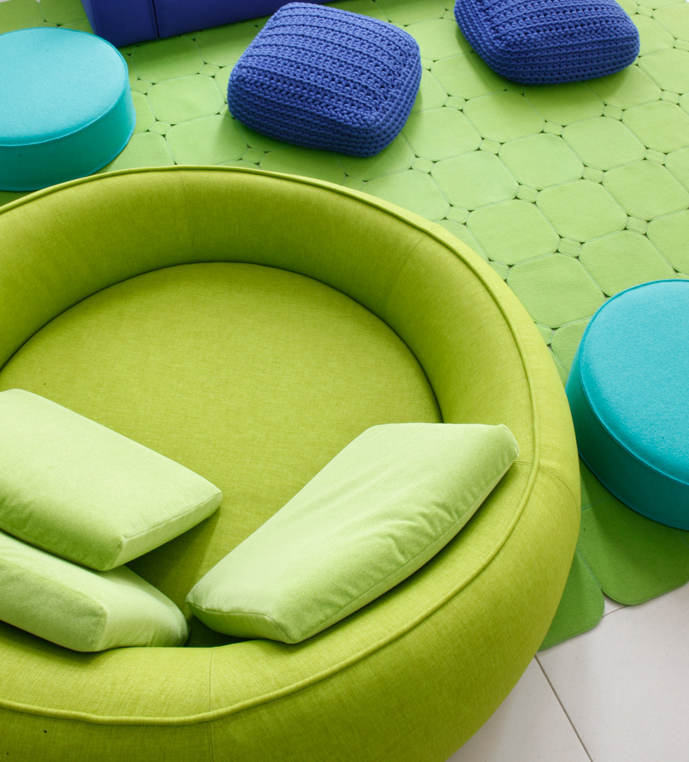Green Round Shaped Sofa