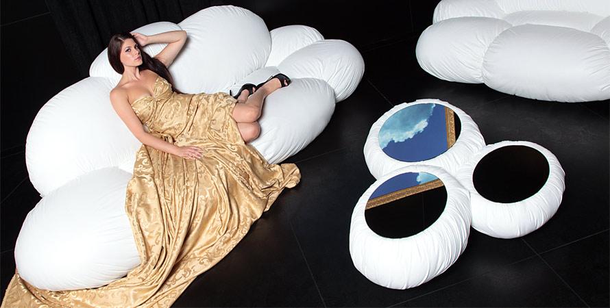 White Cloud Shaped Designer Sofa