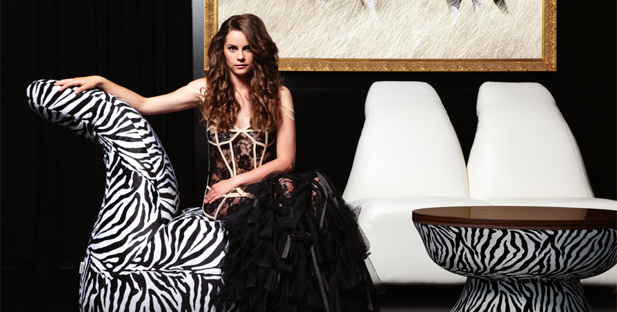 White and Black Zebra Sofa Designs
