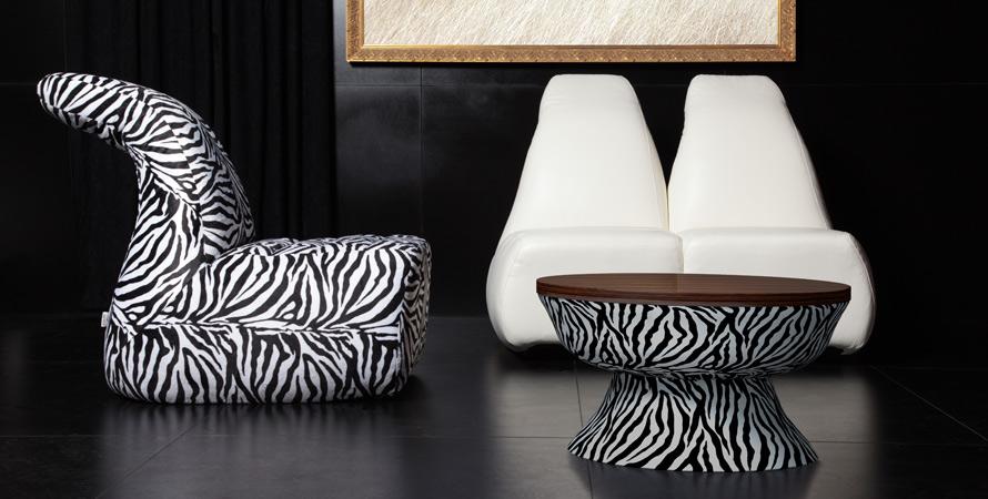 Zebra Pattern Sofa Designs