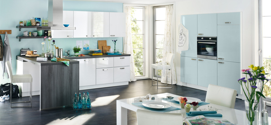 Blue colored Kitchn Pattern