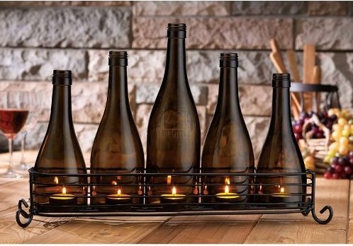 Bottle Themed Candle Stand Design