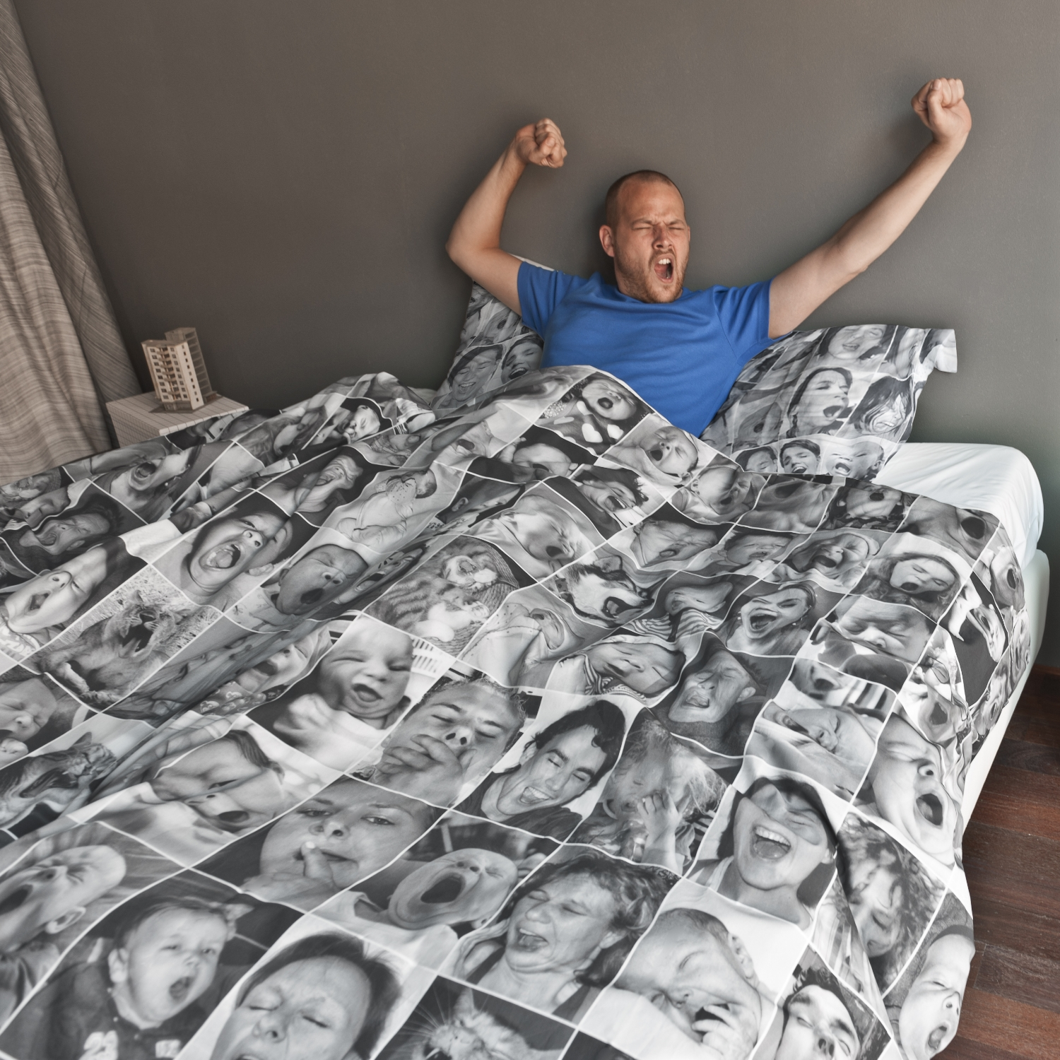 Yawn themed Duvet Cover