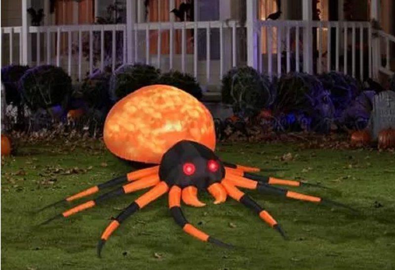Halloween Inflatable Orange Spider