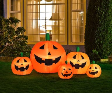 Halloween Inflatable Pumpkin Family