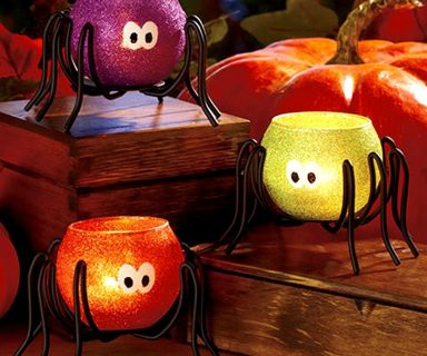 Halloween Spider Tea Light Candle holders