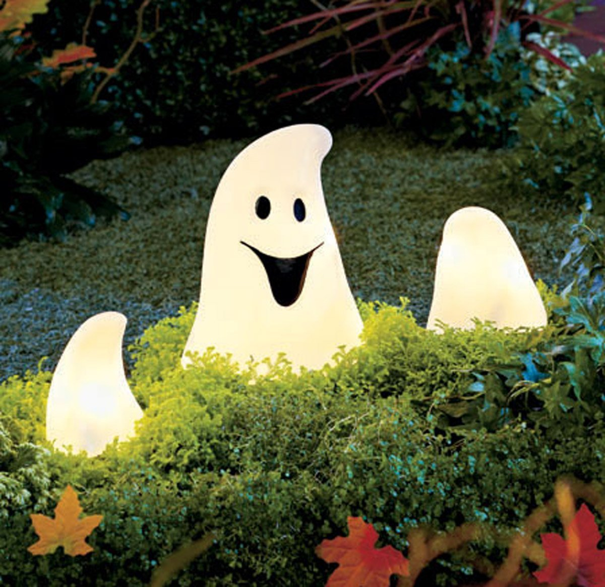 lighted outdoor ghost halloween lights