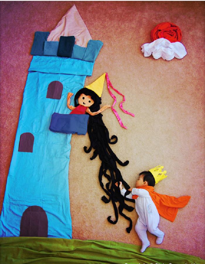 Brave Little Prince Saves Rapunzel