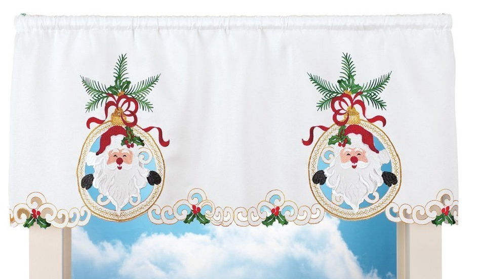 Christmas Santa Window Valance