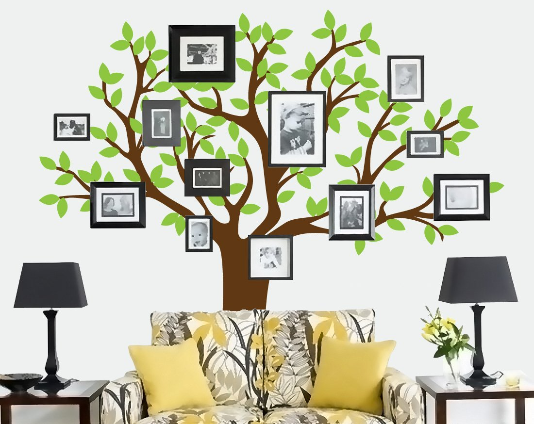 Colorful Family Tree Wall Decal