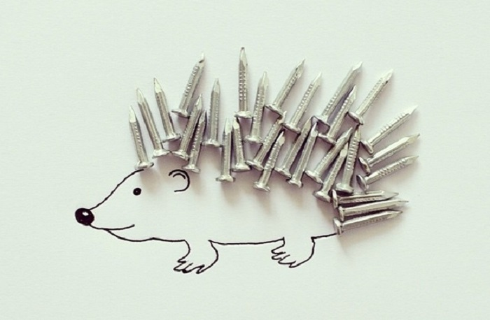 Creative Art with nails