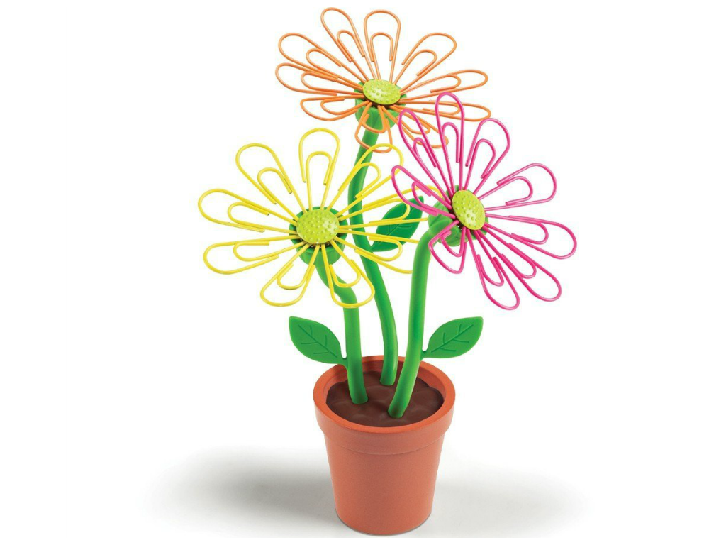 Daisy Magnetic Paper Clip Holder for Desk